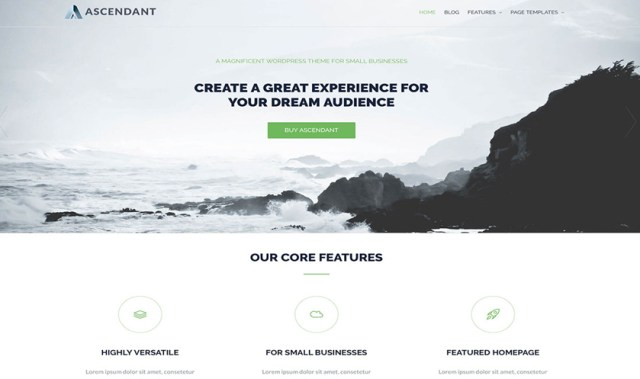 ascendant wordpress themes 2017