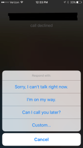 iphone autoreply