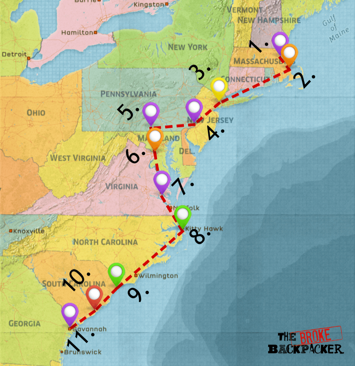 Epic East Coast Road Trip Guide Tips For