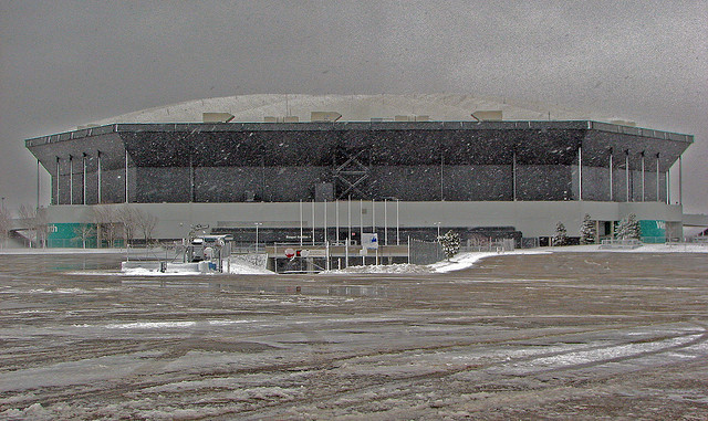 The Pontiac Silverdome has sat mostly unused since the Detroit Lions left for Ford Field downtown in 2002. It is now slated for demolition.