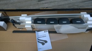Thule Wingbar Edge unboxed