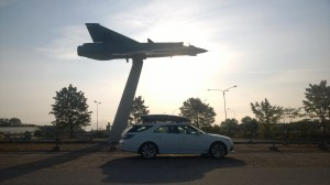 #17 posing at the Saab AB factory in Linköping