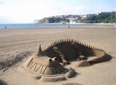 Getxo - Drago di Sabbia - by gaetano aitan vergara, 2009