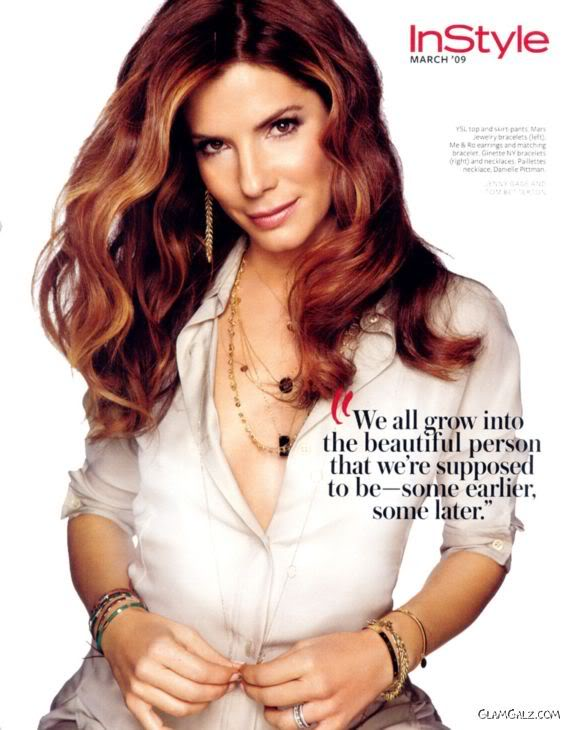 Sandra Bullock Posing for InStyle Mag