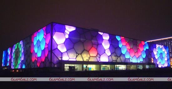 China Water Cube Welcome Olympic Torch