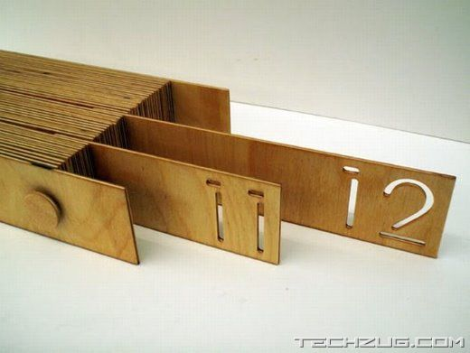Unusual Wooden Office Calendar