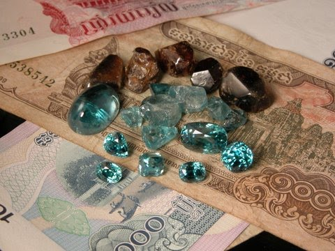 The blue zircons of Bokheo are the finest in the world. Only the stones from this area of northern Cambodia seem to acquire the intense blue colors that make them so famous. Across the nearby Vietnamese border, the stones just don't seem to be able to get the same intensity.