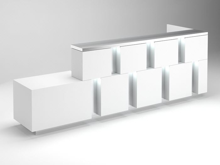 Colorada Modern Reception Desk 90 Degrees Office Concepts