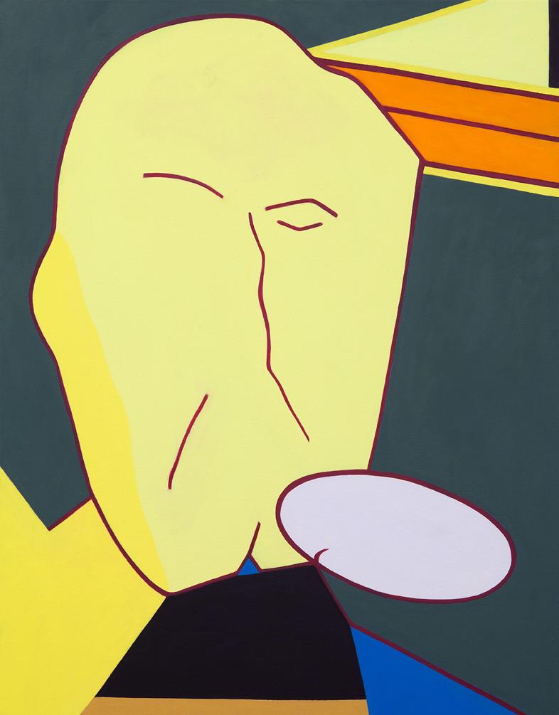 "Thinking Man, 2014, óleo sobre canvas, 36"" x 28"""