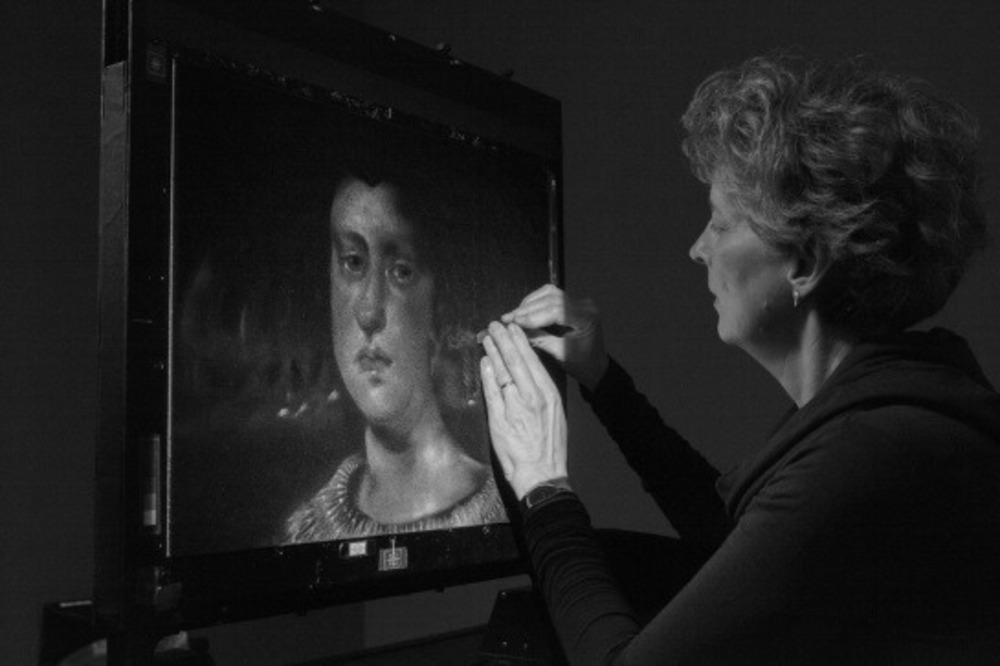 Michèle Lemieux trabajando con el pinscreen Foto: Michèle Lemieux