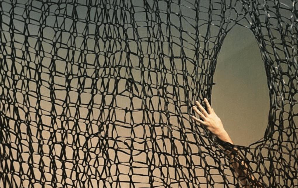"""Detalle de instalación """"Trammel"""" por Jesús Manuel Gómez. Beca Lexus para artistas 2014 /2015. Museo de Arte de Puerto Rico. Foto: Raquel Pérez Puig"""