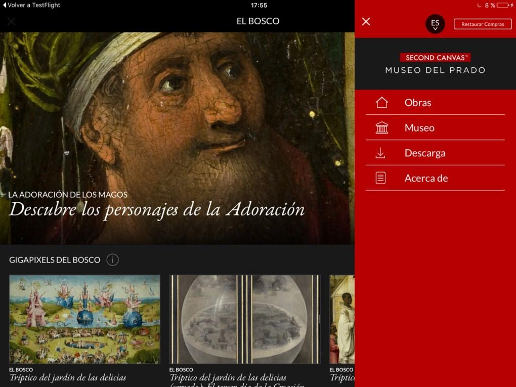 Second Canvas Museo del Prado - Bosco. Cortesía del Museo del Prado