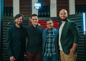 Cuarteto de jazz. De izda. a dcha. Jesús Colón, Giovanny Rodríguez, William García y Richard Peña