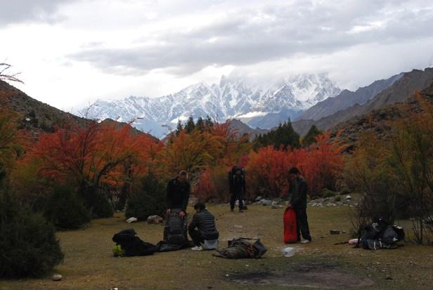 Base Camp nahe des Miar Gletschers