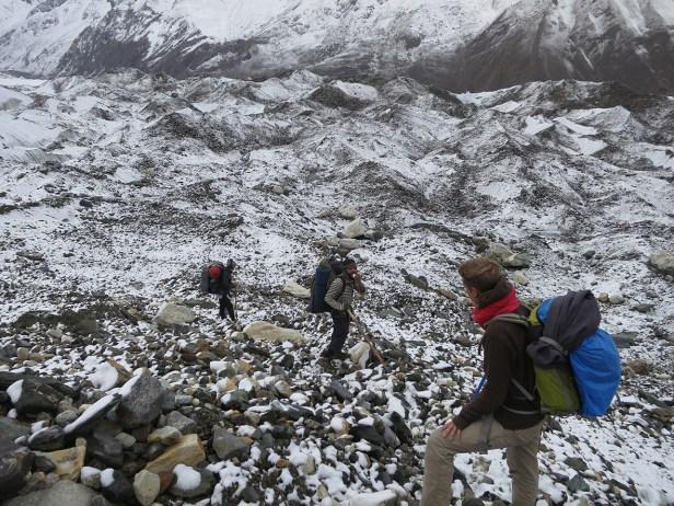 Auf dem Miar Gletscher