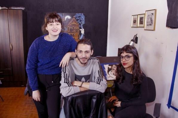 Josefina Fogel Nuñez, Paul Fava y Ornella Pocetti. Foto: Adri Godis