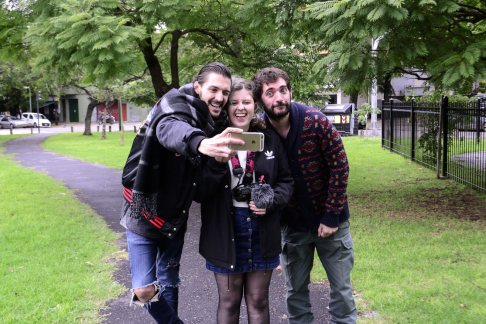 Matías Najle, Josefina Fogel Núñez y Paul Fava. Foto: Adri Godis @adrigodis