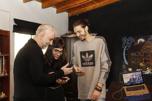 Gonzalo Fargas, Ornella Pocetti y Paul Fava. Foto: Adri Godis