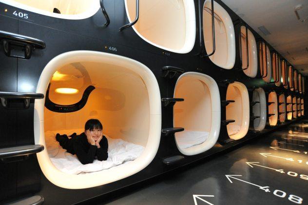 Hotel Cápsula en Tokyo