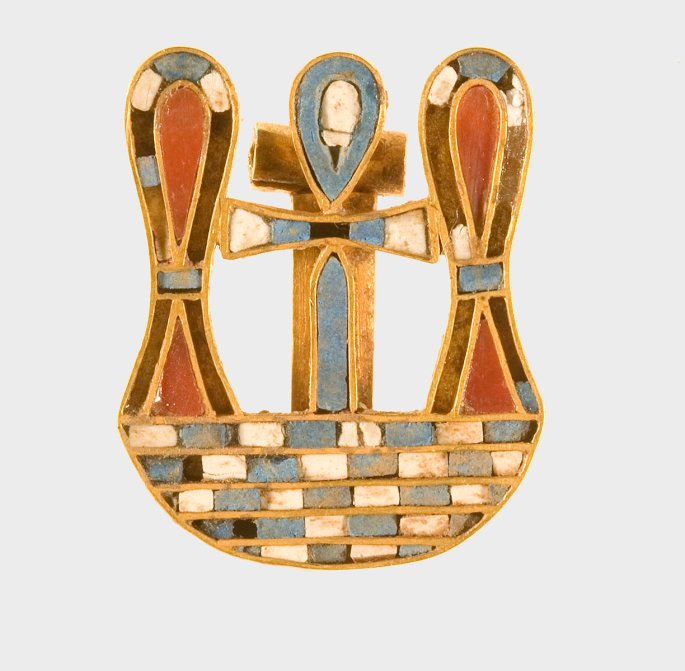 Motto Clasp of Sithathoryunet. Twelfth Dynasty, reign of Senwosret II–Amenemhat III (ca. 1887–1813 B.C.). Gold, carnelian, paste. The Metropolitan Museum of Art, Purchase, Rogers Fund and Henry Walters Gift, 1916