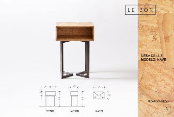 Mesa de luz Nave - Le Box