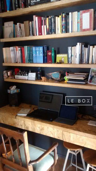 Le Box - escritorio y estantes