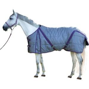 Kerbl Paardendeken Indoor - Grijs/rood - 155 cm