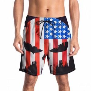 zomer nieuwe heren broek 3D-vlag schedel print strand broek casual tij merk herenkleding multi / m