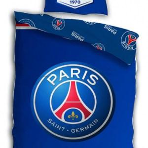 Paris Saint-Germain dekbedovertrek katoen 140 x 200 cm blauw