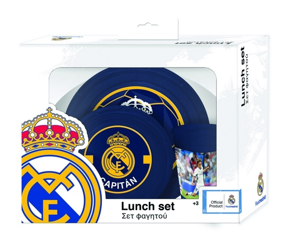 Real Madrid eetset RM blauw 3 delig