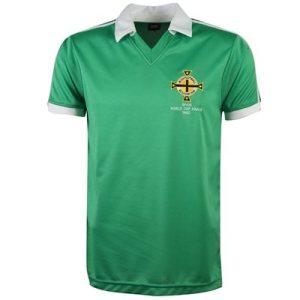 Noord Ierland Retro Voetbalshirt WK 1982
