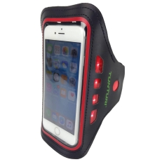 Tunturi Led Telephone Sport Armband Red Stuk