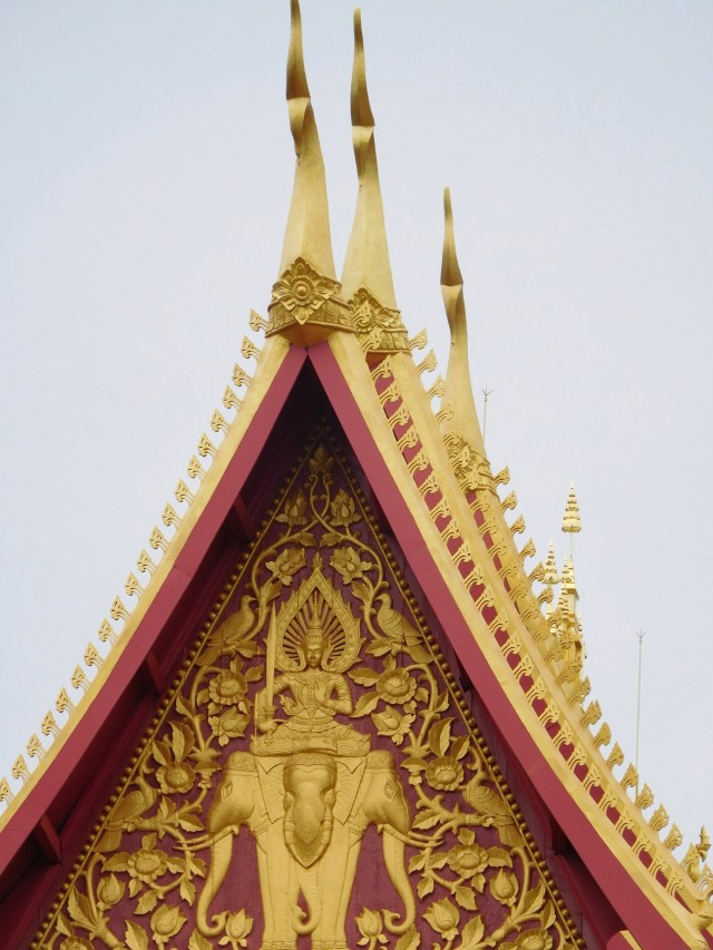 Brahma on top of elephants ! This is the tower which is made of pure gold.