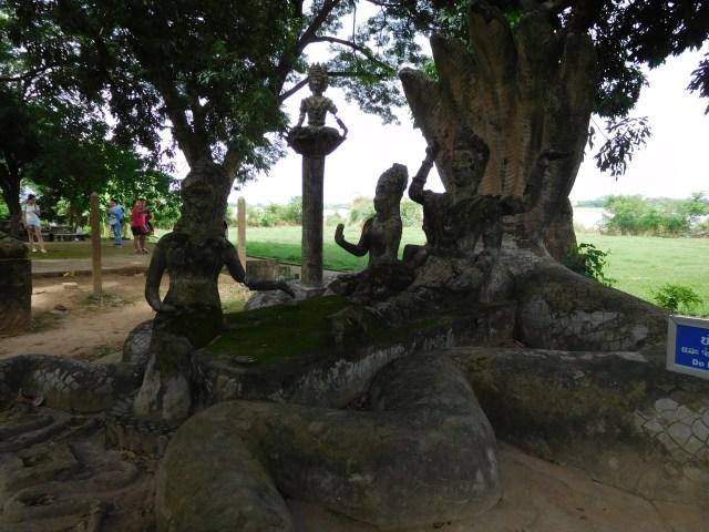 Vishnu and Lakshmi on the Anant Nag .. Brahma on the lotus.
