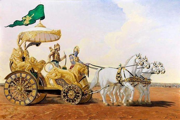 Arjuna, Krishna, Giampaolo Tomassetti