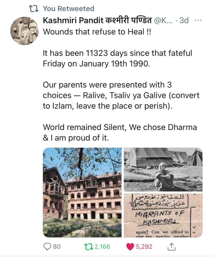 Jan 19 - Exodus Kashmiris