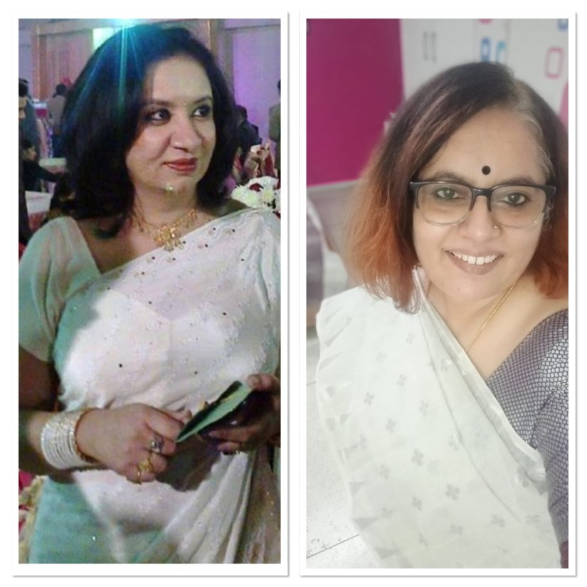 Coincidence - White sarees