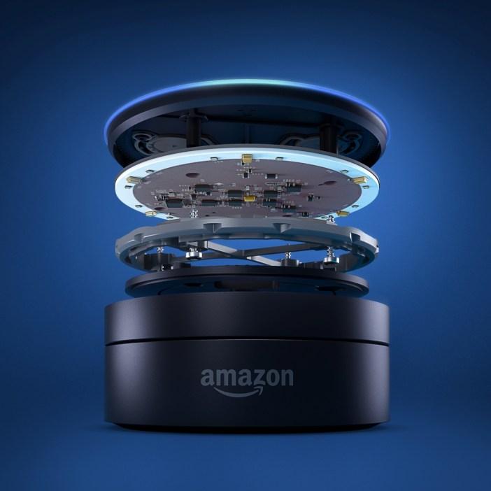 Amazon Echo Dot i jego budowa - fot. mat. pras.
