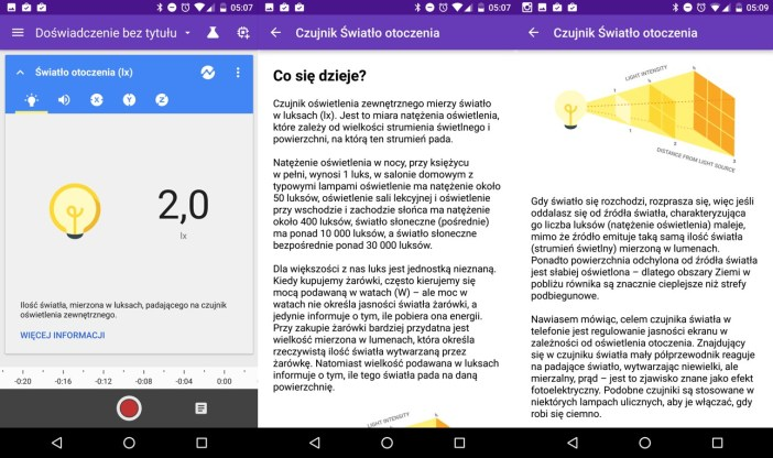 Aplikacja Google Science Journal - 90sekund.pl