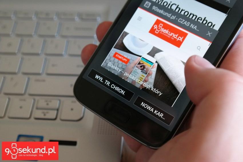 Tryb Chroniony w przeglądarce internetowej w Samsungu Galaxy S7 - 90sekund.pl