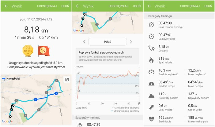 Samsung Gear Fit 2 (SM-R360). S Health - recenzja 90sekund.pl