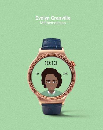 Tarcza zegarka z Evelyn Granville - fot. Fat Russell