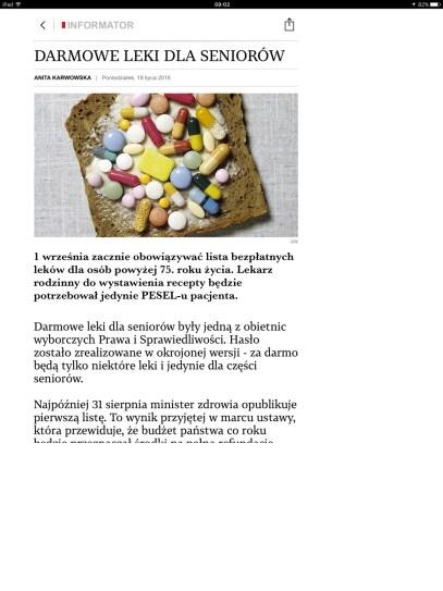 """Aplikacja Gazety Wyborczej na iPadzie Pro 12,9 """"delikatnie nie justuje""""... - recenzja 90sekund.pl"""