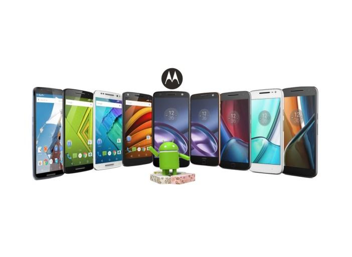 Rodzina smartfonów Lenovo z serii Moto, które otrzymają Androida 7.0 Nougat - fot. mat. pras.