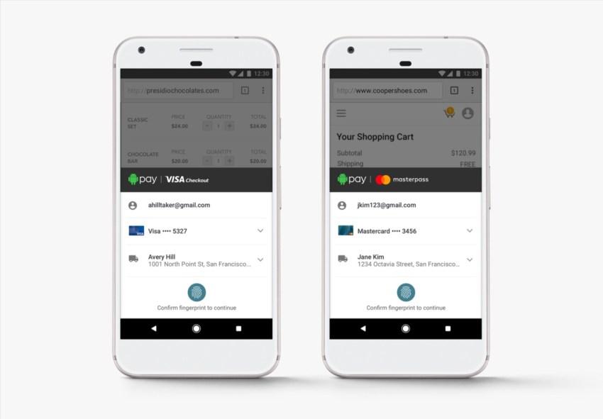 Android Pay z Visa i Mastercard - fot. Google