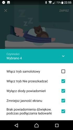 Sony Xperia XZ Premium - Xperia Actions - recenzja 90sekund.pl