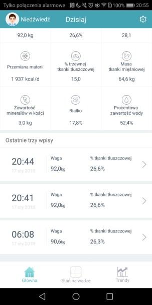 Aplikacja Waga Tkanki Tłuszczowej Huawei - recenzja 90sekund.pl