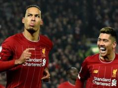 Van Dijk celebrates first goal against Manchester United