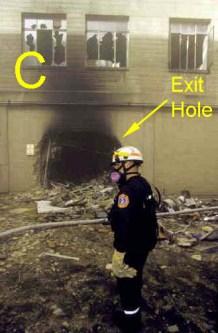 pentagon c-ring exit hole
