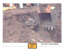 Debris found in crater